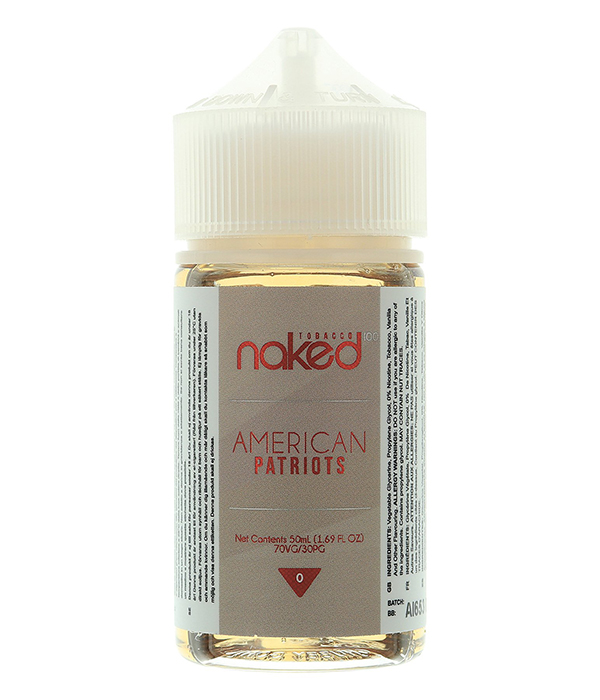 Naked 100 Tobacco American Patriot E-juice 60ml | VapeSourcing